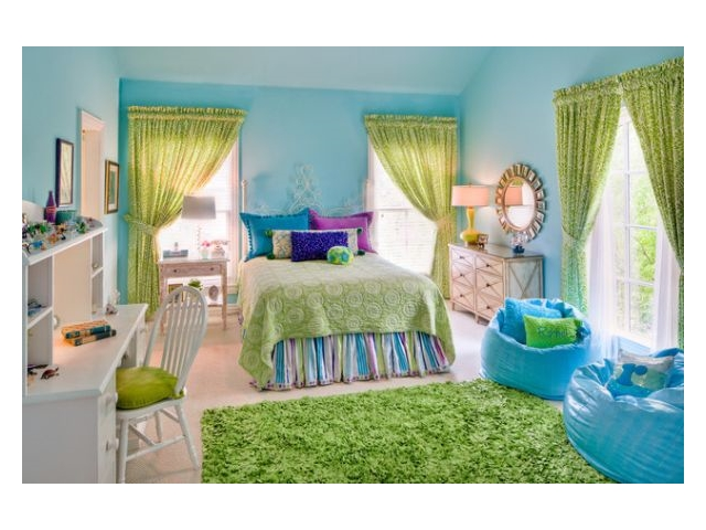 Colorful kids bedroom