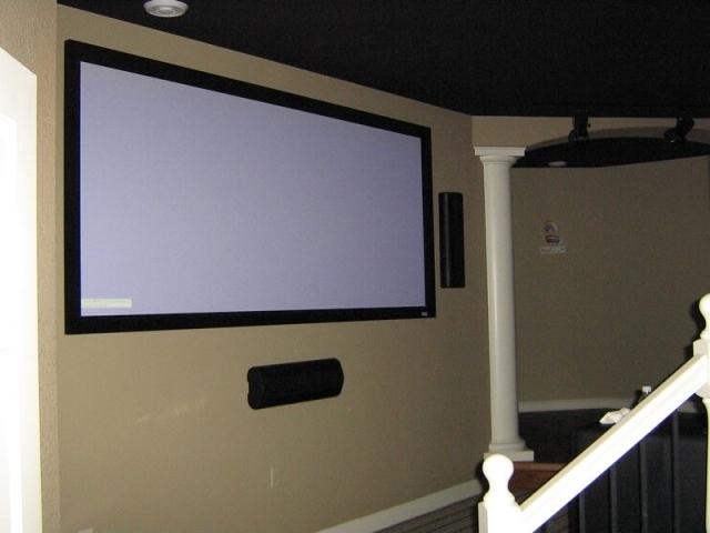 Painted walls,ceiling & woodwork ( theater room)