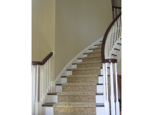 Stained & painted staircase